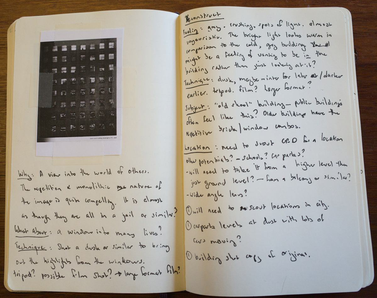 Using a moleskine to write a book