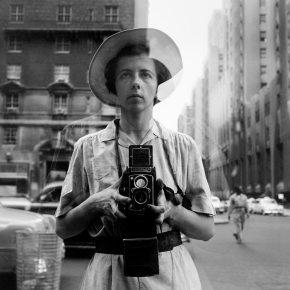 Vivian Maier with her Rollei