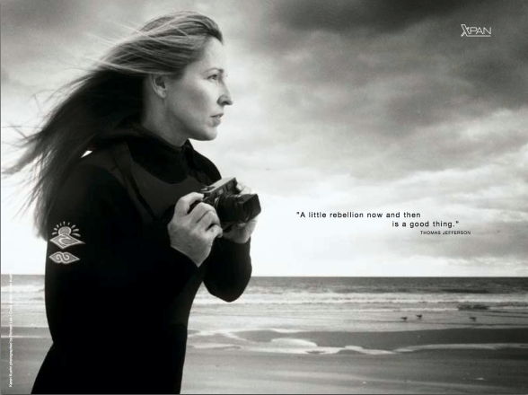 Who could resist such a moody ad? Shot in glorious standard format rather than panoramic! Way to sell the XPan Hasselblad!